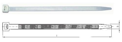 Kabelbinder 200x2,5mm natur