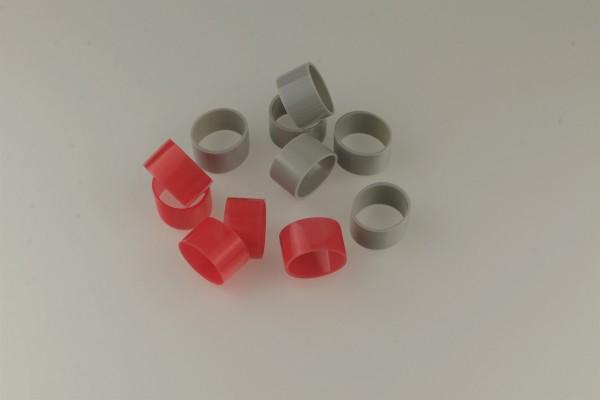 Hauptbündelringe Größe 22 aus Kunststoff - Gruppenringe 22,0x24,0x15mm in grau oder rot