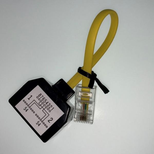 Atos Unify OpenScape Business RJ45-RJ45 Adapterkabel 0,1m - C39195-Z7230-A1 - L30251-U600-A844