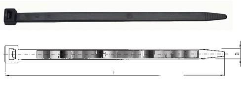 Kabelbinder 200x4,5mm schwarz