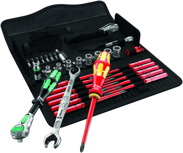 Wera Kraftform Kompakt W 1 Wartung Werkzeugsatz mit Zyklop Speed 35-teilig 05135926001