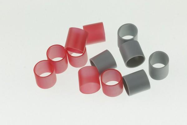 Hauptbündelringe Größe 18 aus Kunststoff - Gruppenringe 18,0x20,0x15mm in grau oder rot