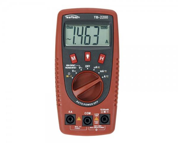 Testboy 2200 Digital-Multimeter mit Kabelbruchdetektor und LED-Taschenlampe