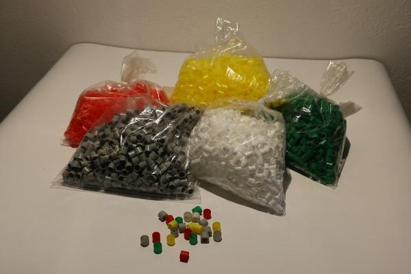 Gruppenringe aus Kunststoff, mehrere Farbvariationen und Größen
