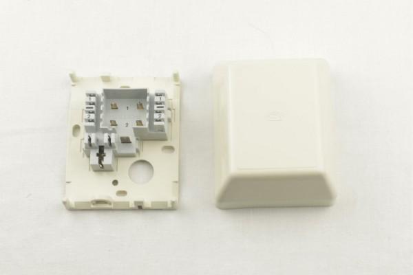 FMT Verteilerdose VVD 83 AP Verbindungsdose perlweiß für 2 DA