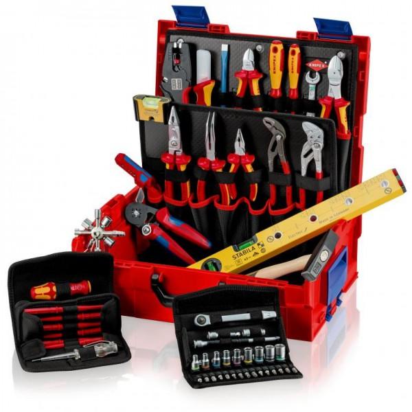 Knipex L-BOXX Elektro 63-teilig Werkzeugsortiment für den Elektriker - 00 21 19 LB E offen