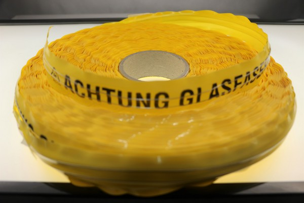 Trassenwarnband 250m gelb TWB-MC-10 Ortungsband Text: Achtung Glasfaserkabel
