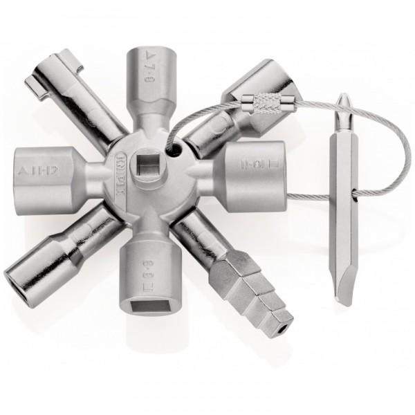 Knipex TwinKey Universalschlüssel für gängige Schränke und Absperrsysteme - 00 11 01