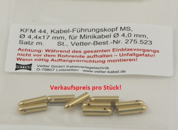Kabelführungsköpfe Ø 4,4x17mm 275.523
